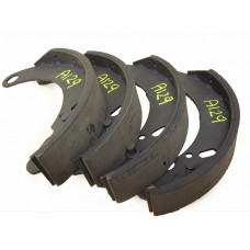 Brake shoe with improved lining.